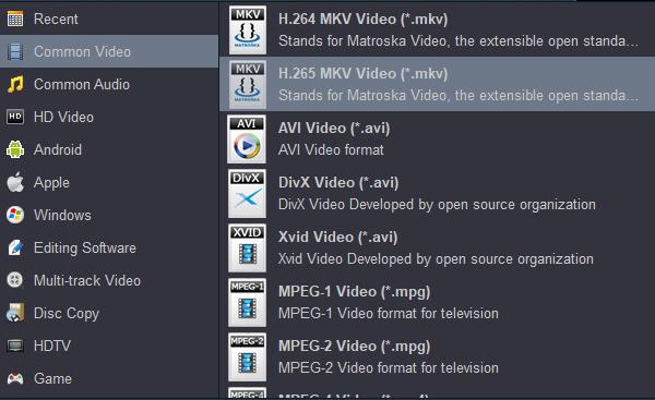 Convert video to H.265 MKV Video Converter