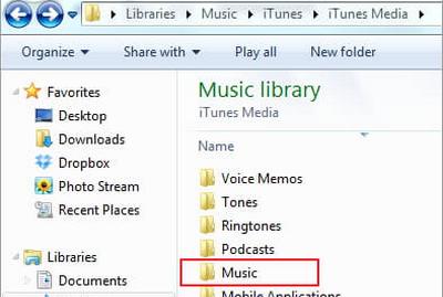 Transfer iTunes Media Folder